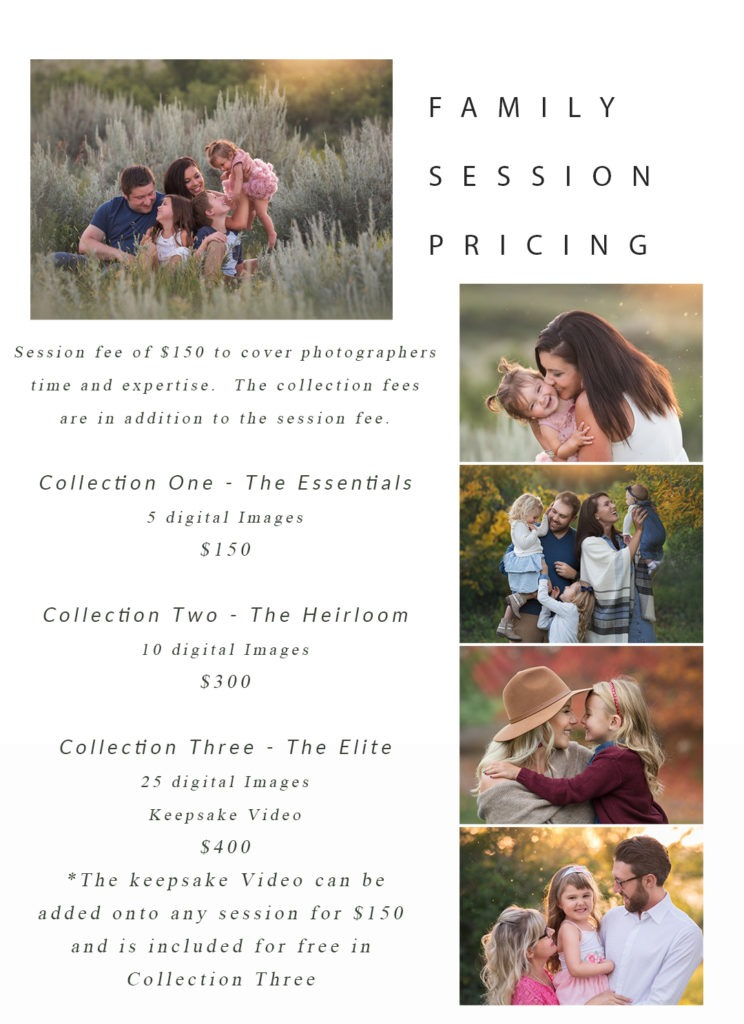 family photo session price list